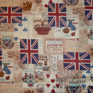 Stoff Baumwolle Englische Flagge Union Jack, royal