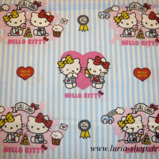 Stoff Baumwolle Hello Kitty Girl Gang Lizenzstoff